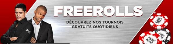 Les freerolls pour tous sur Betclic Poker