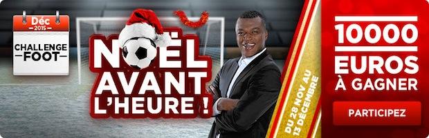 10.000€ à gagner avec le Challenge Foot de BetClic en décembre
