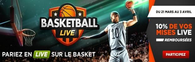 Pariez en Live sur le basket en mars avec Betclic