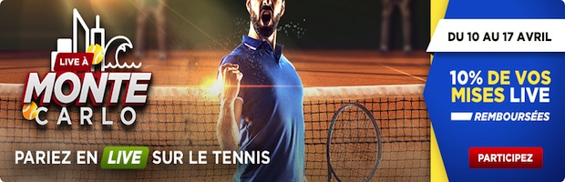 Tournoi de tennis de Monte Carlo sur Betclic.fr