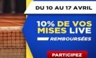 Betclic Sport rembourse 10% de vos mises sur le Master de Monte-Carlo