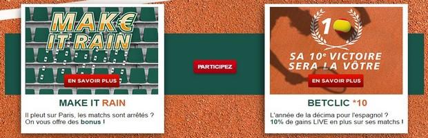 2 offres sur Roland-Garros avec Betclic
