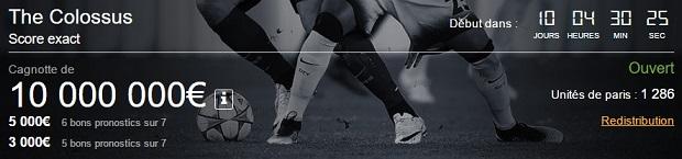 Jouez au Colossus sur Betclic pour l'Euro 2016 jusqu'au 12 juin
