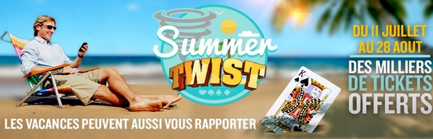 Les Summer Twist de Betclic Poker
