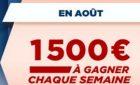 Jackpot de 1.500 euros mis en jeu lors de chaque challenge hippique du mois d'août