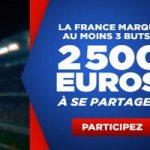 Cagnotte de 2.500 euros à partager pour Biélorussie-France avec Betclic