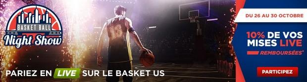 Pariez sur la reprise de la NBA avec Betclic