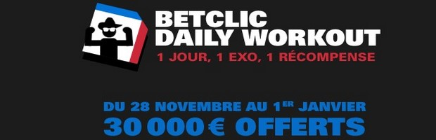 La promotion Daily Workout sur Betclic Poker
