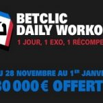 Betclic Poker : Daily Workout jusqu'au 1er janvier