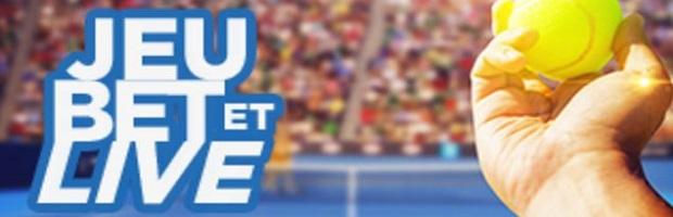 Mises live remboursées à 10% sur Betclic pour l'Open d'Australie de tennis