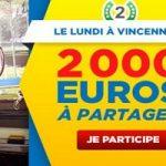 Misez en Couplé Gagnant à Vincennes chaque lundi de janvier sur Betclic et gagnez une part des 2.000 €