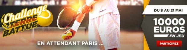 10.000€ mis en jeu par Betclic pour son Challenge tennis