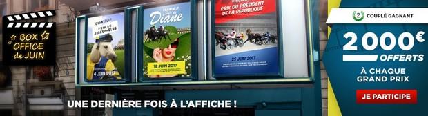 6.000€ mis en jeu par Betclic Turf sur 3 Grand Prix en juin 2017