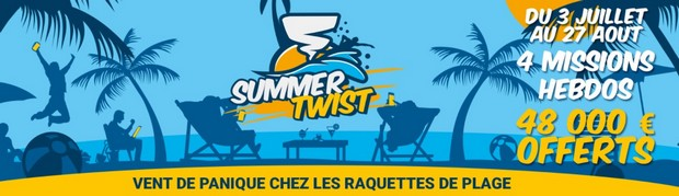 48.000€ mis en jeu par Betclic Poker pour le Summer Twist édition 2017