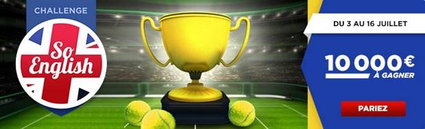 10.000€ à partager pour le tournoi de Wimbledon sur Betclic