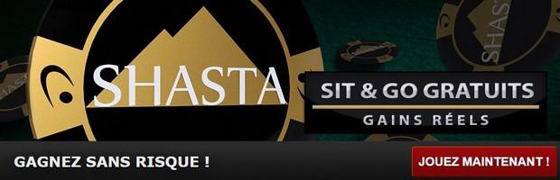 Les SNG Shasta de Betclic Poker sont gratuits
