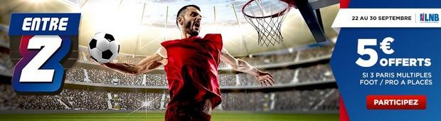 5€ offerts avec l'offre Entre 2 de Betclic Sport