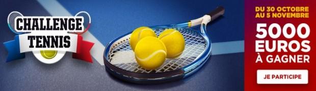 5.000€ mis en jeu sur le tennis avec Betclic
