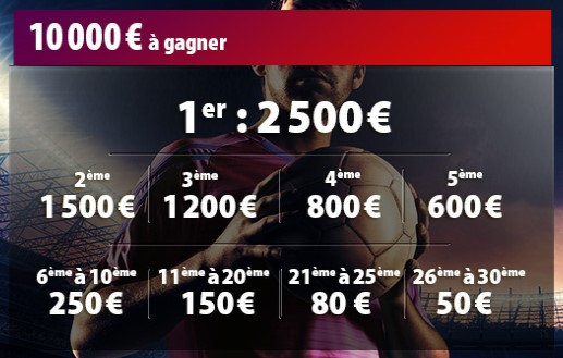 Betclic met 10.000€ en jeu sur le football du 6 au 15 octobre