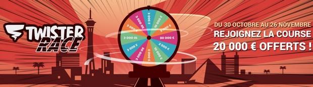 20.000€ mis en jeu par Betclic Poker pour la Twister Race de novembre