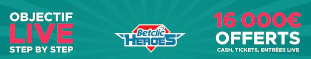Participez à l'Objectif Live sur Betclic entre le 28 février et le 2 avril 2018