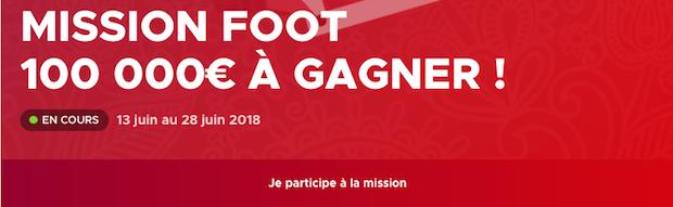 Mission Foot de Betclic avec 100.000€ à partager