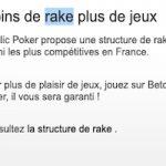 Prélèvements effectués par Betclic Poker